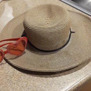 SCALA DRAW STRING FLOPPY SUMMER HAT